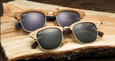 RAY BAN CLUBMASTER I CLUBROUND WOOD