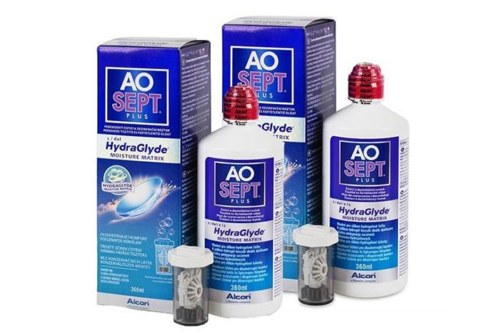 Aosept Plus with HydraGlyde rastvor za kontaktna sočiva