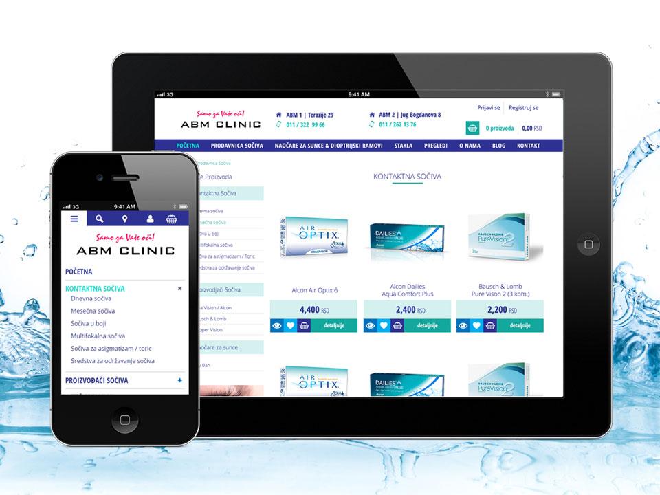ABM Clinic internet prodavnica kontaktnih sočiva i naočara