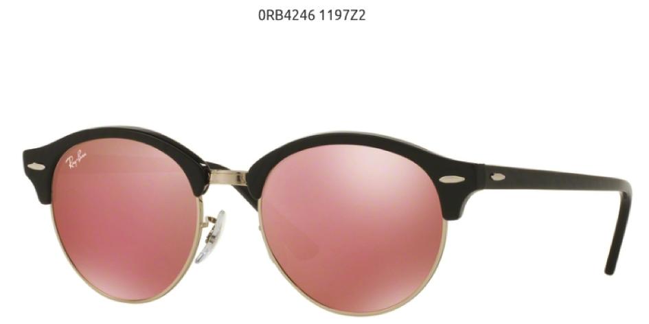 Ray Ban Cloubround 0RB4246119722 roze ženske naočare za sunce