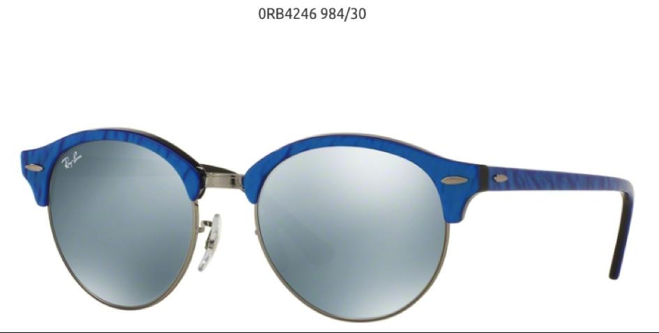 Ray Ban Cloubround 0RB4246984/30 plave sunčane naočare