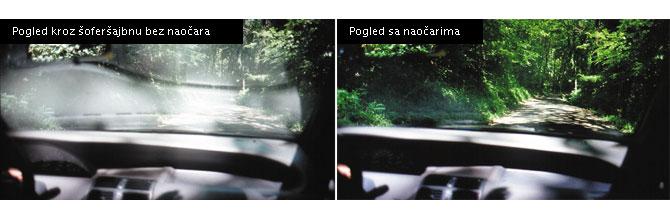 Kako izgleda sa Polaroid naočarima i bez njih
