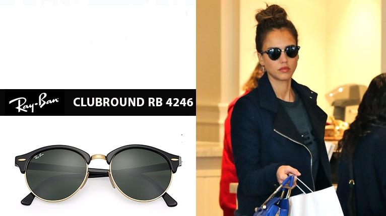 Jesica Alba nosi Ray Ban Clubround naočare za sunce