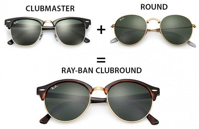 Ray Ban Clubround naočare su nastale od Clubmaster i Round