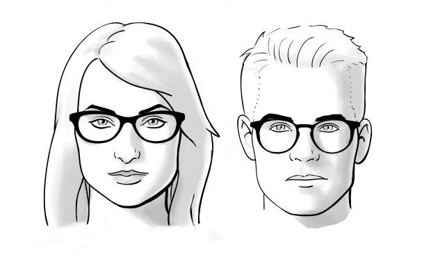 Dioptrijske naočare za četvrtasto lice
