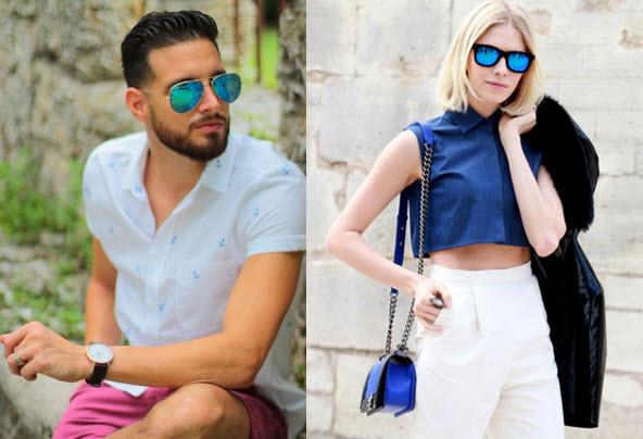 Muške i ženske naočare za sunce sa efektom ogledala