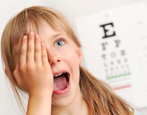 Očni pregled deteta