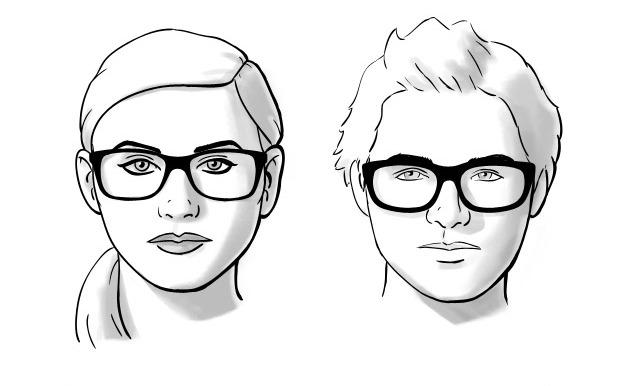 Dioptrijske naočare za okruglo lice