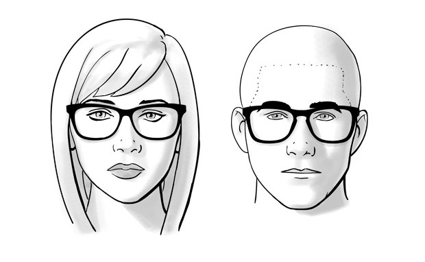 Dioptrijske naočare za ovalno lice