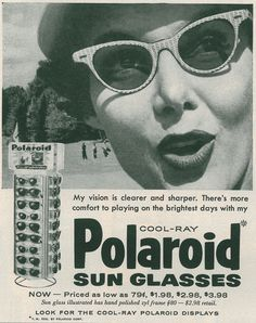 Starinska reklama za Polaroid naočare za sunce